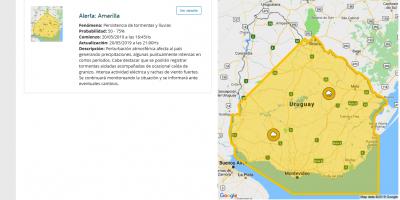 Rige una advertencia de nivel amarillo para buena parte del país hasta las 21:00 horas