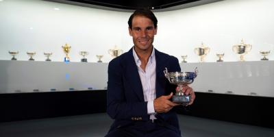 Nadal deposita el duodécimo trofeo Roland Garros en su museo de Manacor