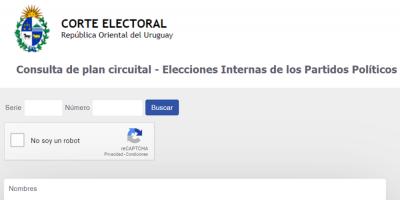 Corte Electoral habilitó la consulta del plan circuital para saber dónde votar