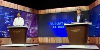 Precandidatos Andrade y Talvi realizaron propuestas durante el debate televisado Uruguay Decide