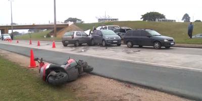 Cinco personas sufrieron lesiones tras un accidente vehicular múltiple