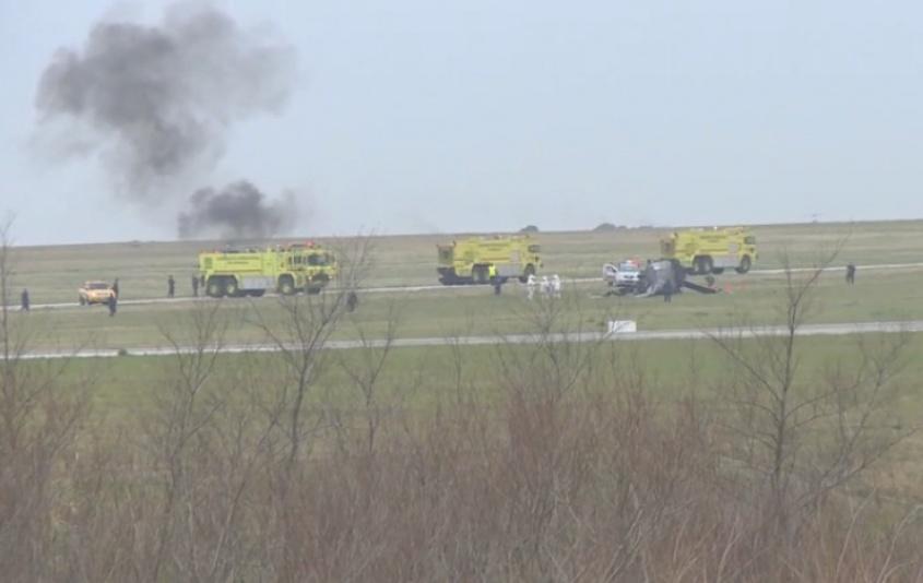Uruguay: Mueren dos personas al estrellarse un avión militar durante un entrenamiento