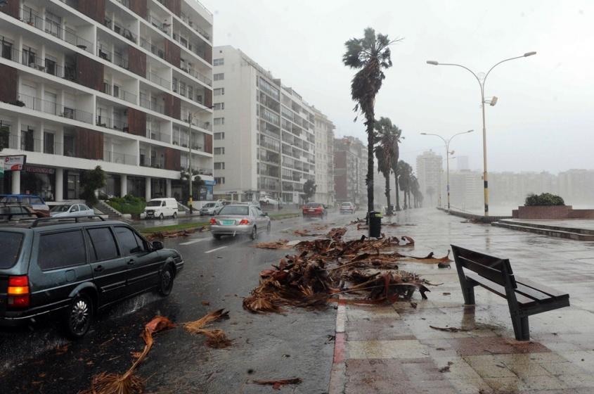 Alerta naranja para el sur y sureste del país por vientos fuertes
