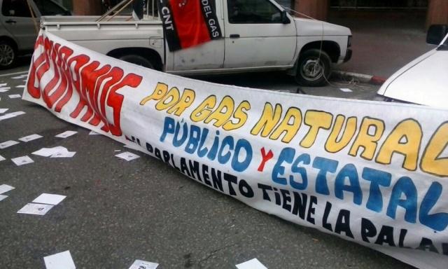 Trabajadores ocuparon Montevideogas y denuncian estafa