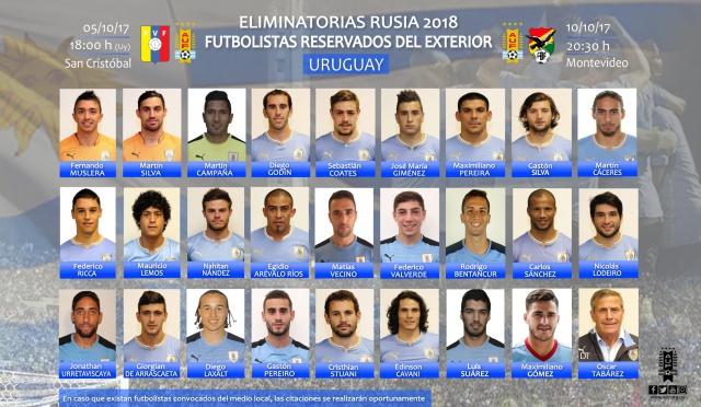 Uruguay reservó la armada extranjera para afrontar la última jornada de Eliminatorias