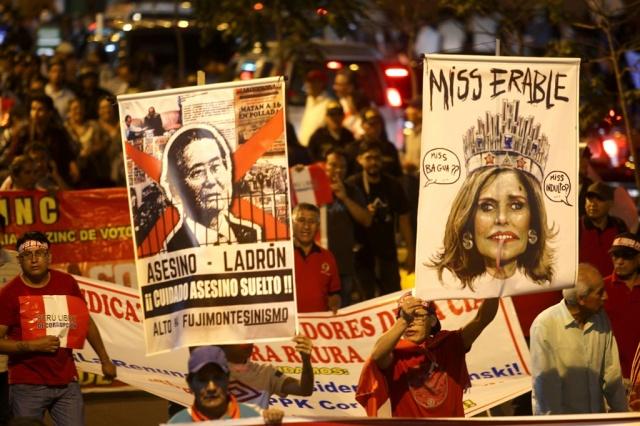 Miles protestan en Perú por indulto a Alberto Fujimori