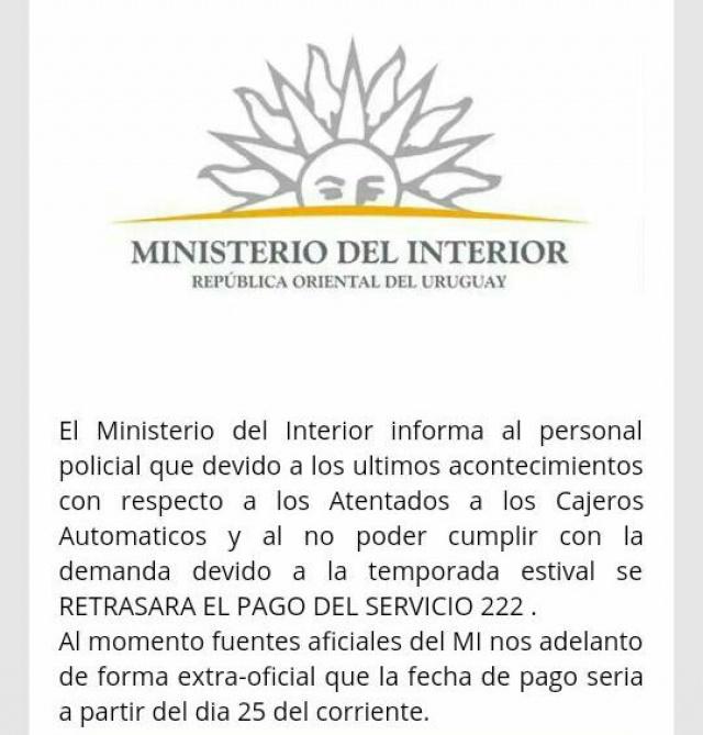 ministerio del interior alerta sobre mensajes falsos en