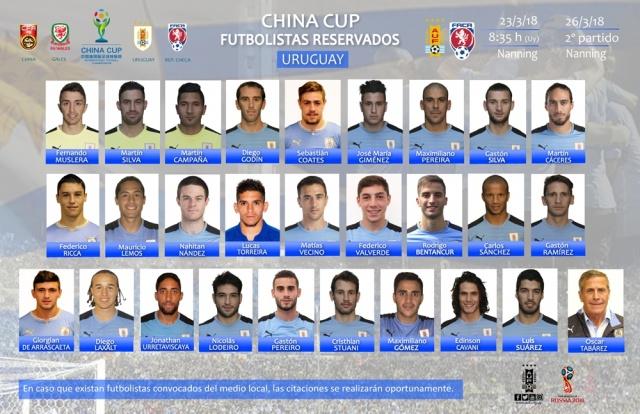 Suárez, Godín y Giménez, convocados por Uruguay para la China Cup