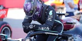 Hamilton logra su 'pole' número 100