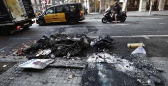 Disturbios nocturnos en Barcelona se saldan con 182 heridos