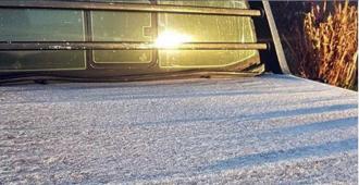 Artigas registró la temperatura más baja esta madrugada con -1.3°C