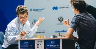 Carlsen ante Esipenko en Copa del Mundo