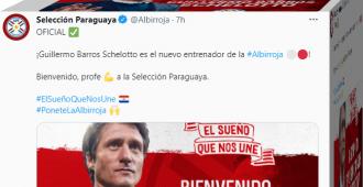 Guillermo Barros Schelotto sucede a Berizzo como seleccionador de Paraguay