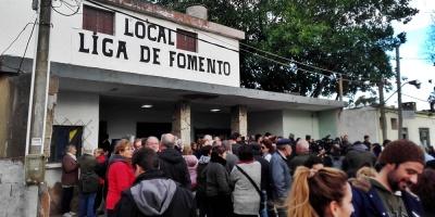 Vecinos de Balneario San Luis recibieron al presidente Vázquez
