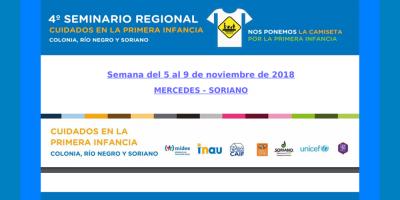 """Soriano: INAU anuncia el4º Seminario Regional sobre primera infancia """"Cuidados en la Primera Infancia"""""""