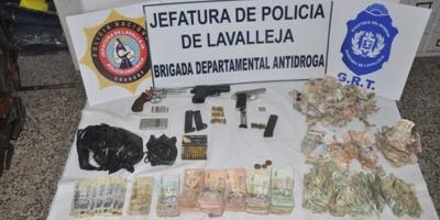 Detuvieron a tres personas en Lavalleja tras incautación de armas y drogas