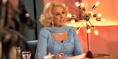 Conductora argentina Mirtha Legrand, de 92 años, fue internada por problema estomacal