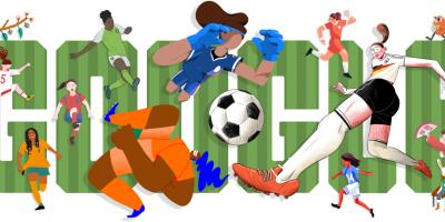 Google dedica su portada de hoy al Mundial de fútbol femenino