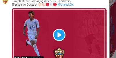 Gonzalo Bueno ficha dos temporadas por el Almería