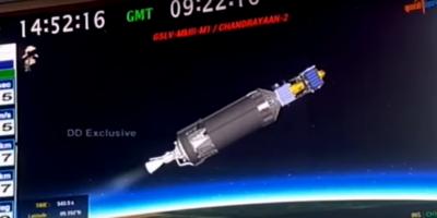 La India lanzó con éxito su misión al inexplorado polo sur de la Luna