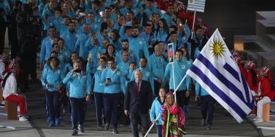Uruguay en el desfile de los Juegos Panamericanos de Lima 2019