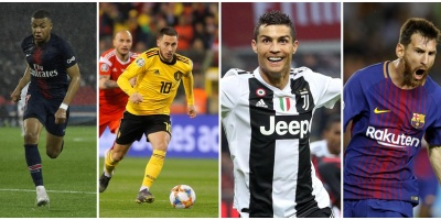 Messi, Cristiano, Hazard y Mbappe, candidatos al The Best Mejor Jugador