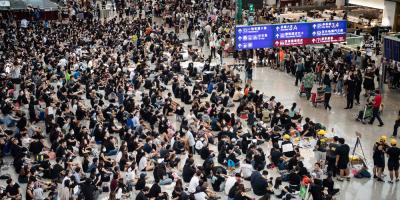 Hong Kong suspende todos sus vuelos de salida por segundo día consecutivo