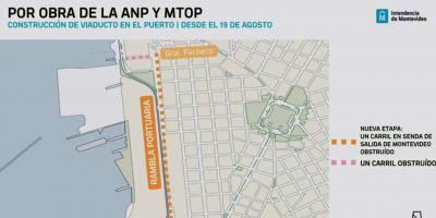 El MTOP inicial el lunes la segunda etapa de construcción del Viaducto en rambla la portuaria