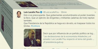 """Lacalle Pou: Presidencia """"traspasó todos los límites"""""""