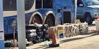Incautaron 800 kilos de marihuana en Río Branco que pretendían ingresar en un ómnibus