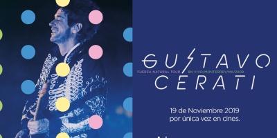 """Llega a la pantalla grande """"Fuerza Natural Tour: Gustavo Cerati en vivo en Monterrey, MX, 2009"""""""