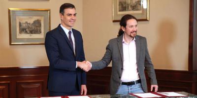 Socialistas e izquierda logran acuerdo para Gobierno de coalición en España