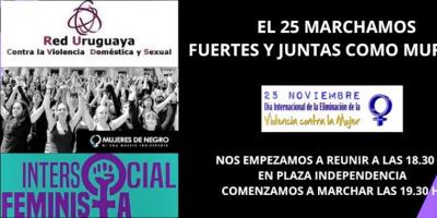 Intersocial Feminista y Mujeres de Negro convocaron a movilización para este lunes