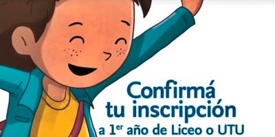 El plazo para confirmar inscripciones a educación media regirá hasta el 27 de diciembre