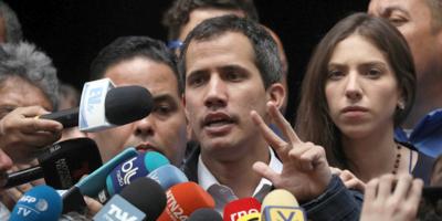 El jefe del Parlamento de Venezuela, Juan Guaidó, felicitó a Luis Lacalle Pou por su triunfo electoral