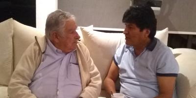 José Mujica se encontró este lunes con Evo Morales en México