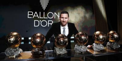 El futbolista argentino Lionel Messi recibió su sexto Balón de Oro