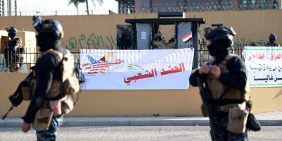 Calma y fuerte despliegue de seguridad en la Embajada de EE. UU. en Bagdad