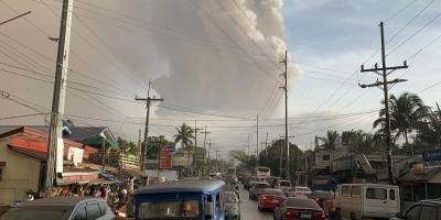 Alerta en Filipinas por aumento de la actividad del Taal