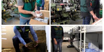 Desmantelan en España la primera fábrica de tabaco subterránea de Europa