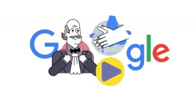 Doodle de Google para promover el lavado de manos y prevenir la COVID-19