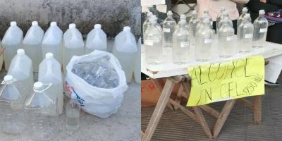 Detuvieron en Pando a personas que vendían alcohol en gel adulterado en plena vía pública
