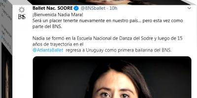 Nadia Mara integrará el Ballet Nacional