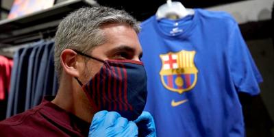 Las mascarillas, nueva revolución en el merchandising futbolístico