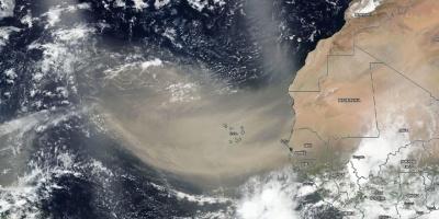 """La peor nube de polvo del Sahara en 50 años """"ensucia"""" el aire del Caribe"""