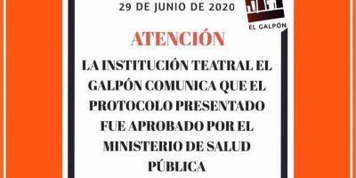 El MSP aprobó el protocolo sanitario presentado por El Galpón y se aguarda resolución del MEC