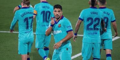 Suárez ya es el tercer goleador histórico del Barcelona