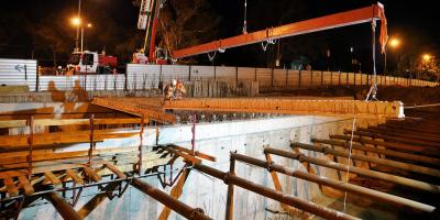 Iniciaron la construcción del techo en el nuevo túnel de avenida Italia