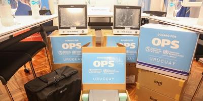 ASSE recibió una importante donación de  equipamiento e insumos de la OPS/OMS