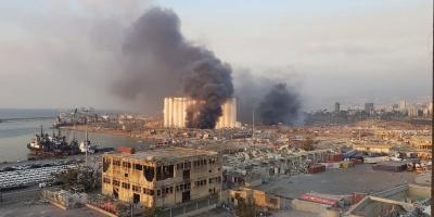 Líbano: fuerte explosión en un almacén de la zona del puerto de Beirut